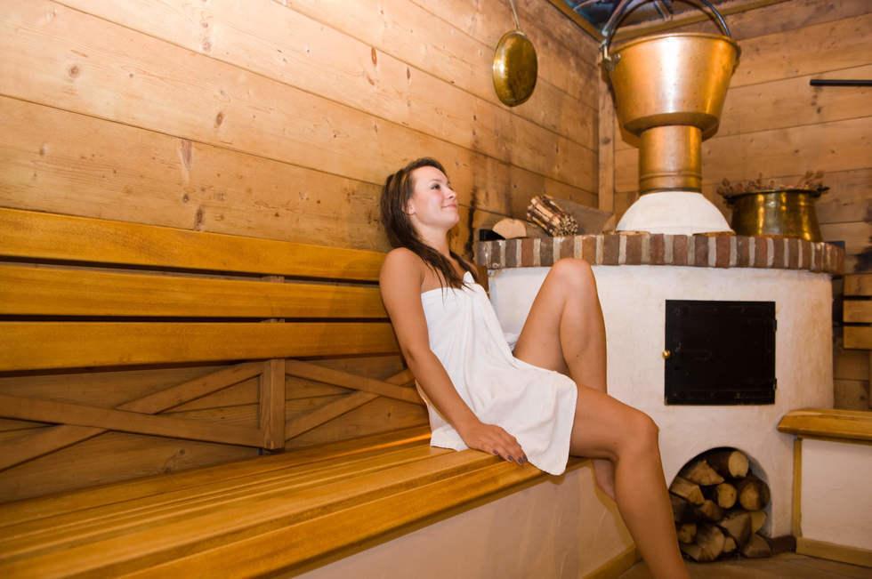 Blick in die Saunalandschaft des Romantischen Winkels Spa & Wellness Resort in Bad Sachsa (Harz)